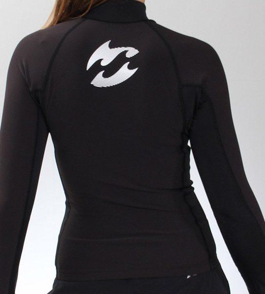 Billabong Womens Thermal Rash Vest Long Sleeve back