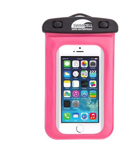 swimcell waterproof phone case pink